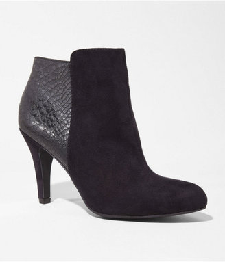 Express Mixed Media Heeled Bootie