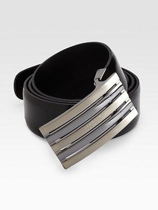 Versace Leather Logo Belt