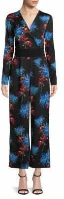 Diane von Furstenberg Long-Sleeve Crossover Jumpsuit