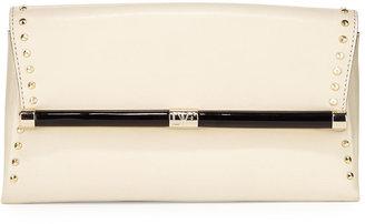 Diane von Furstenberg 440 Studded Envelope Clutch Bag, Parchment