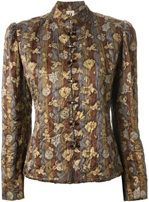 Ungaro Pre-Owned floral quilted jacket