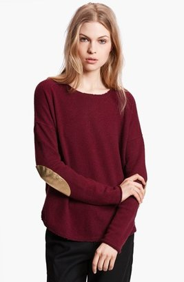 Zadig & Voltaire 'Kimmy' Elbow Patch Cashmere Sweater