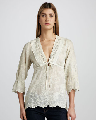 Johnny Was Collection Mary Jay Embroidered Tunic