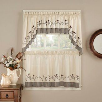 Bed Bath & Beyond Birds Window Curtain Tiers
