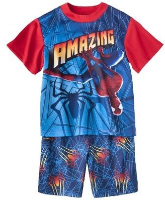 Spiderman Boys' 2-Piece Short-Sleeve Pajama Set