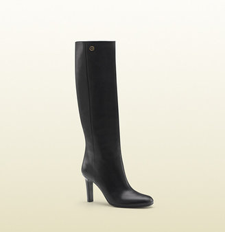 Gucci georgina interlocking G mid heel tall boot