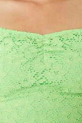 Nasty Gal Budding Lace Crop Top
