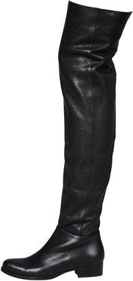 Jimmy Choo Georgina Stretch Leather Over-the-Knee Boot, Black