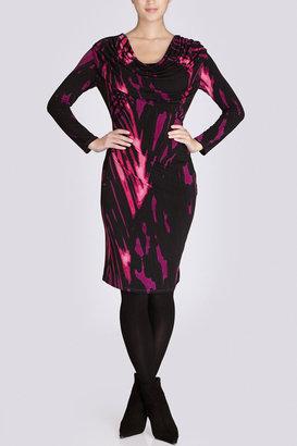 Josie Natori Capiz Cowl Dress