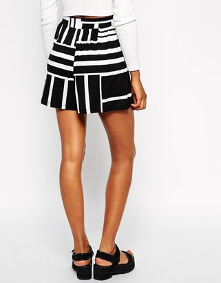 Asos TALL 2 Pack Culottes In Plain and Abstract Print