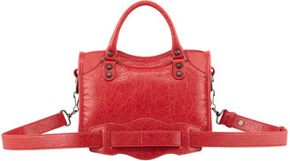 Balenciaga Classic Mini City Bag, Rouge Cardinal