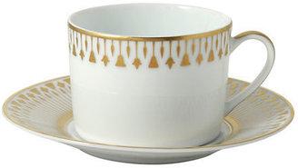 Bernardaud Soleil Levant Cup & Saucer, White