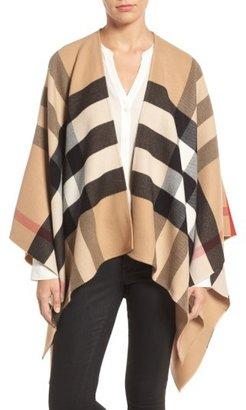 Women's Burberry Reversible Merino Wool Cape $950 thestylecure.com