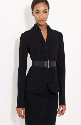 Donna Karan Collection Belted Stretch Crepe Jacket