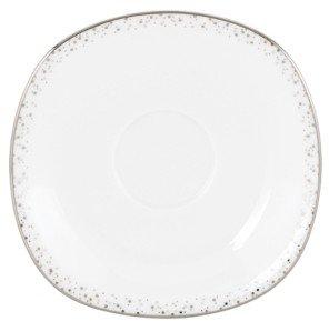 Lenox Lifestyle Dinnerware, Silver Mist Square Saucer