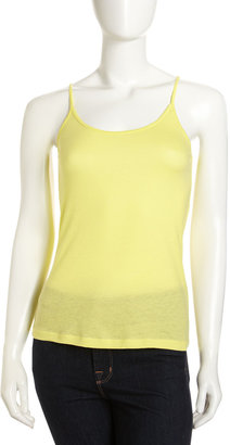 Velvet by Graham & Spencer Knit Camisole, Neon Yellow