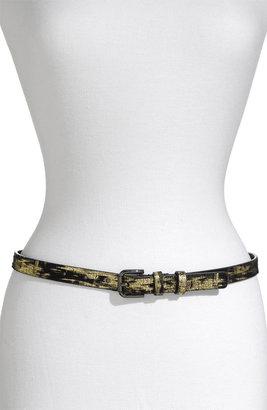 WCM 'Downtown' Metallic Leather Belt