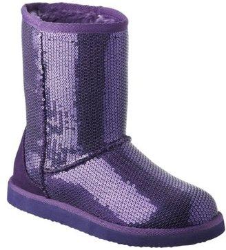 Xhilaration Women's Kasey Sequins Boot - Purple
