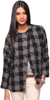 Forever 21 Checkered Princess Coat