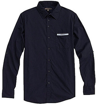 Murano Fitted Point-Collar Sportshirt