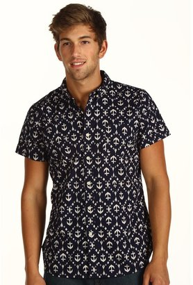Obey Anchor S/S Woven Shirt (Navy) - Apparel