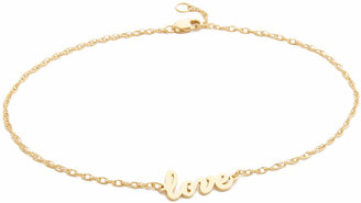 Jennifer Zeuner Jewelry Love Anklet $132 thestylecure.com