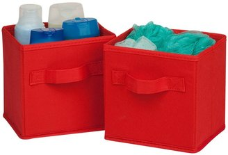Honey-Can-Do 2pk Mini Non-Woven Foldable Cube- Red