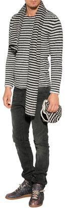 Ermanno Scervino Wool-Alpaca Blend Striped Scarf