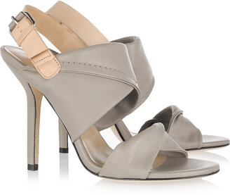 Diane von Furstenberg Sinead two-tone leather sandals