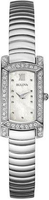 Bulova Women's Stainless Steel Bracelet Watch 18x15mm 96L207 - A Macy's Exclusive $199 thestylecure.com