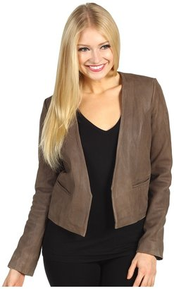 Joie Lahaina Leather Jacket (Cement) - Apparel