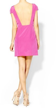 Tibi Silk Cap Sleeve Dress