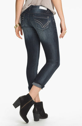 Jolt Skinny Crop Jeans (Juniors) Dark Wash 000