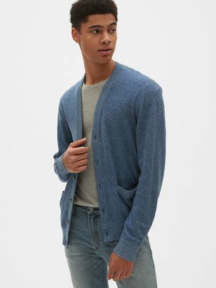Gap V-Neck Cardigan Sweater in Linen-Cotton