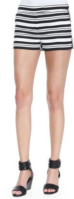 Tibi Summer Striped Shorts