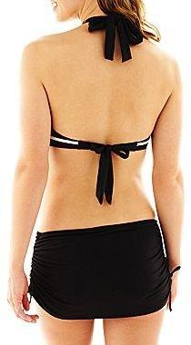Liz Claiborne Striped Twist Bandeau Swim Top
