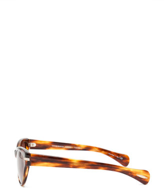 Oliver Peoples Kosslyn Polarized Sunglasses in Morrel Tortoise