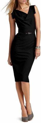 Black Halo Dress - Jackie O Belted Sheath in Stretch Gabardine $345 thestylecure.com