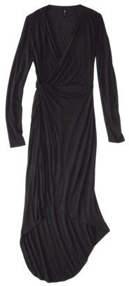 labworks Petites Long-Sleeve Wrap Dress - Black