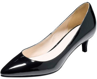 Cole Haan Juliana Low-Heel Patent Pump, Black $148 thestylecure.com