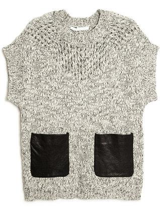 Thakoon Short Sleeve Knit Top
