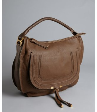 Chloé brown seed leather 'Marcie' large hobo bag