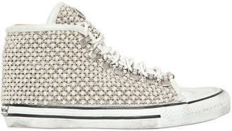 20mm Swarovski & Bead Leather Sneakers $1,082 thestylecure.com