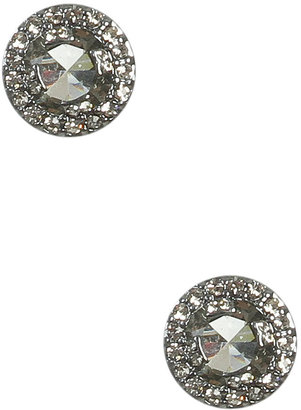 Arden B Round Paved Stud Earring