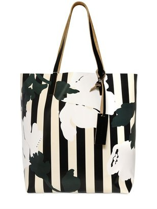 Marni Layer Flowers Printed Tote Bag