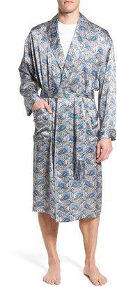 Majestic International Cypress Silk Paisley Robe