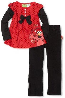 Sesame Street Toddler Girls Elmo 2 Piece Pant Set
