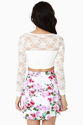 Nasty Gal New Bloom Skater Skirt
