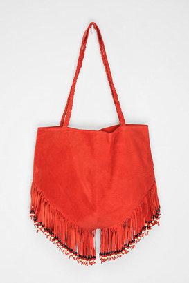 Urban Outfitters MK Totem Bead-Fringe Tote Bag