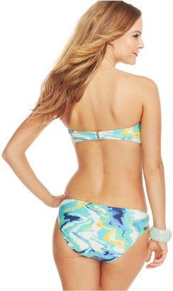 Vince Camuto Printed Hardware Bandeau Bikini Top